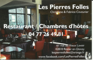 Restaurant les Pierres Folles